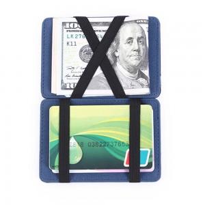 """Unconventional Premium Polyurethane Leather (PU Leather) Minimalist Wallet ([Blue, 10cm x 7cm(3.75""""x2.75"""")]) [100pcs/Lot]"""