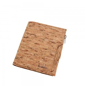 "Stylish Reyclable Brown Cork Wallet Card Case [10cm x 12cm(3.75""x4.5"")] [20pcs/Lot]"