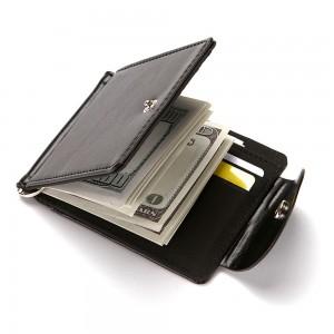"Slim Minimalist Polyurethane Leather (PU Leather) Billfold Wallet [Black, 11cm x 8cm(4.25""x3"")] [90pcs/Lot]"