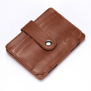 "Portable Slim Brown Polyurethane Leather (PU Leather) Billfold Travel Wallet for Men 10.5cm x 7.8cm(4""x3"") [60pcs/Lot]"