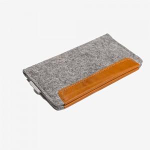 "Stylish High Capacity Gray Felt Card Holder Carrying Pouch 20cm x 15cm(7.75""x5.75"")[100pcs/Lot]"