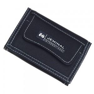 "Black Denim-like Canvas Trifold Travel Wallet for Men and Women 12cm x 8.5cm(4.5""x3.25"") [80pcs/Lot]"