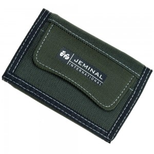 "Green Denim-like Canvas Trifold Travel Wallet for Men and Women 12cm x 8.5cm(4.5""x3.25"") [80pcs/Lot]"