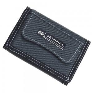"Gray Denim-like Canvas Trifold Travel Wallet for Men and Women 12cm x 8.5cm(4.5""x3.25"") [80pcs/Lot]"