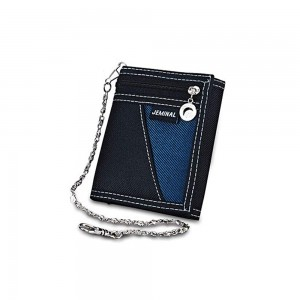 """Men's Black Canvas Stylish Trifold Wallet 12cm x 9cm(4.5""""x3.5"""") [70pcs/Lot]"""