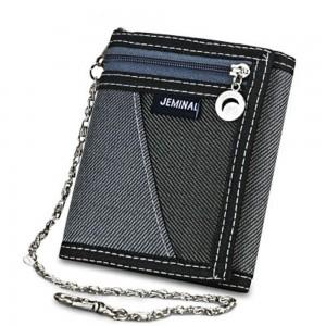 "Men's Gray Canvas Stylish Trifold Wallet 12cm x 9cm(4.5""x3.5"") [70pcs/Lot]"