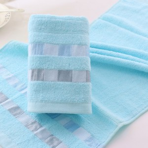 Blue Cotton Washcloths (100 Pieces/Lot)