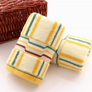 Yellow Striped Facial Cloths (80 Pieces/Lot)