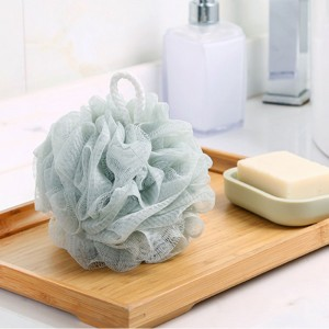Gray Polyethylene Shower Loofah Sponge With Grip Strap (100 Pieces/Lot)