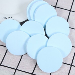 Blue Round Facial Sponge (80 Packs/Lot)