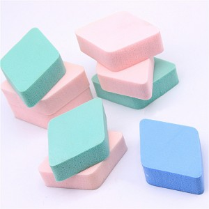 Mixed Color Square Facial Sponge (100 Packs/Lot)