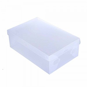 Translucent Polypropylene Detachable Lid Shoe Boxes 13 x 7.75 x 4.5 Inches - 100 Boxes/Lot