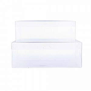 Translucent PP Detachable Lid Shoe Boxes 11 x 7 x 3 Inches - 100 Boxes/Lot