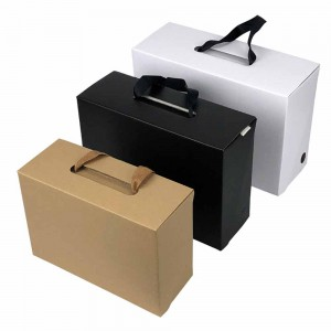 Mixed Colors Cardboard + Kraft Shoe Boxes with Handle 11.5 x 7.5 x 4.25 inches - 120 Boxes/Lot