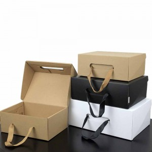 Mixed Colors Cardboard + Kraft Boxes for Women and Men Large Shoes 12.75 x 8.25 x 4.5 inches - 90 Boxes/Lot