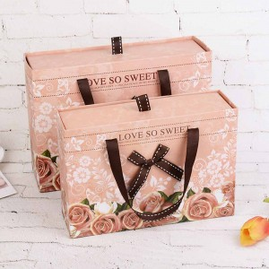 Pink Cardboard Travel-Friendly Gift Boxes 9.25 x 6.5 x 2.75 inches - 30 Boxes/Lot
