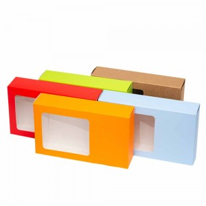 Mixed Colors Cardboard + Kraft paper Apparel Birthday Display Boxes for Apparel Accessories 10.5 x 6.25 inches - 70 Boxes/Lot