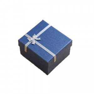 Blue Cardboard Apparel Birthday Gift Boxes 3.25 x 3.5 x 2  inches - 85 Boxes/Lot