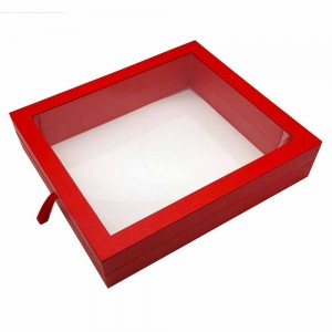 Red Paperboard Apparel Display Boxes 18 x 16 x 3.5 inches - 12 Boxes/Lot