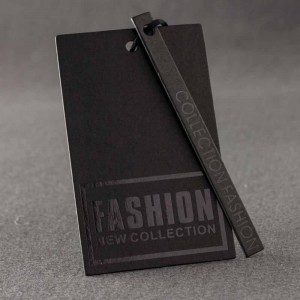 Black Cardboard 2-Piece Fashion Collection Clothing Tags - 650 Tags/Lot