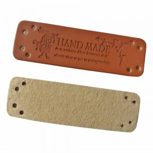 Brown Leather Individual Clothing Handmade Labels 0.5 x 1.75 inches - 1100 Labels/Lot