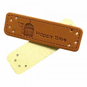 Brown Leather Merchandise Clothing Handmade Labels 0.5 x 1.75 inches - 1100 Labels/Lot