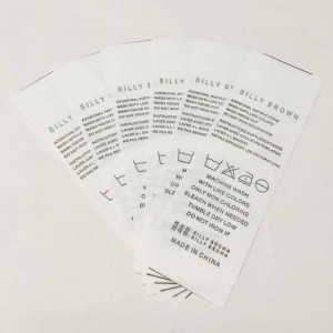 White Nonwovens Merchandise Clothing Care Labels 0.75 x 3 inches - 2200 Labels/Lot