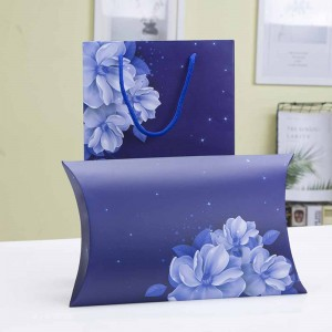 Blue Cardboard Floral Bridal Shower Apparel Accessories Pillow Gift Boxes - 100 Boxes/Lot