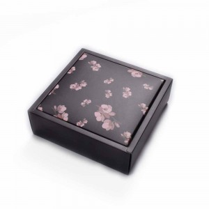 Black Cardboard Flower Bridal Shower Apparel Accessories Gift Boxes 5.75 x 5.75 x 1.75 inches- 170 Boxes/Lot