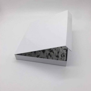 White Cardboard + Copper Clothing Gift Boxes for Weddings 10.5 x 9.5 x 1.5 inches - 40 Boxes/Lot