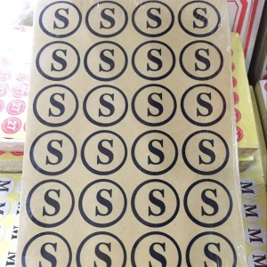 Clear Copper Self-Adhesive Clothing Size Stickers 0.75 inches - 70 Packs/Lot