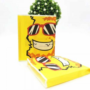 Yellow Cartoon Take-Out Snack Food Bags 5.75 x 7+0.75 inches (1100 Bags/Lot)