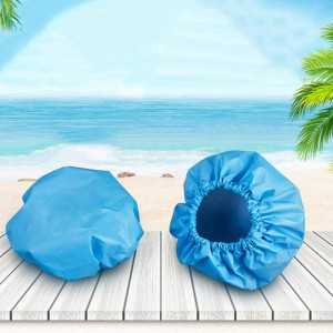 Disposable Blue Plastic Waterproof Shower Ear Protector Covers (2500 Ear Cover/Lot)
