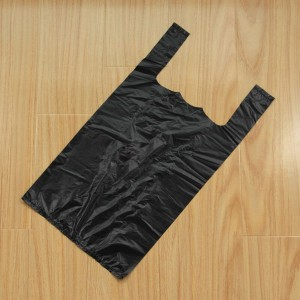 Disposable Black T-Shirt Garbage Bags 36 cm x 52 cm (14 Inches x 20.25 Inches) (2500 Bags/Lot)