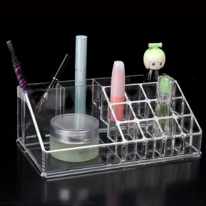 Set of 50 pieces Transparent Cosmetic Storage Display Boxes with 16 slots [50 pieces/lot]