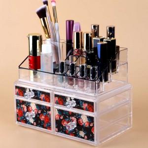 Set of 10 pieces Transparent Acrylic Spacious Design Makeup and Jewelry Case Display [10 pieces/lot]