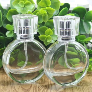 90 pieces Transparent Round Glass Perfume and Essential Oil Bottles 0.85oz [90 pieces/lot]