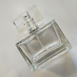 100 Pieces Transparent Square Glass Perfume Spray Atomizer Bottles 1.01oz [100 pieces/lot]