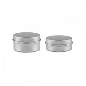 300 pieces Jar Empty Aluminum Silver Cosmetic Lip Balm and Cream Containers 0.35oz&0.7oz [300 pieces/lot]