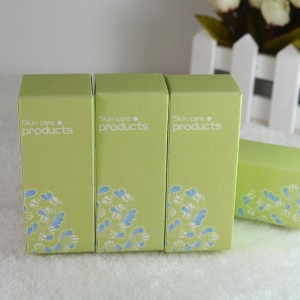 """Empty Green Cardboard Skin Care Boxes Packaging For Cosmetic Purposes [3.5cm x 3.5cm x 8.5cm(1.25""""x1.25""""x3.25"""")] [800 pieces/lot]"""