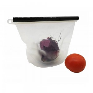 "White Reusable Silicone Leak-Proof Food Storage Ziplock Bags 6.75"" x 9"" (80pcs/Lot)"