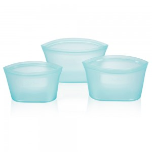 Blue Leakproof Silicone Reusable Food Storage Bowl Container Set [Set of 3 Sizes] (20 Set/Lot)