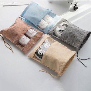 Blue,Gray,Champagne and Khaki Non-Woven Travel Friendly Storage Bag for Shoes and Clothes (10.5 inches x 13.75 inches) [100 Bags/Lot]