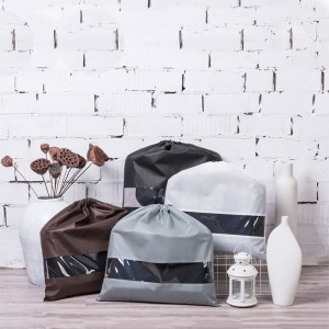 Black,White,Gray and Coffee Water Resistant Drawstring Bag for Clothing Storage (11.75 inches x 11.75 inches) [100 Bags/Lot]