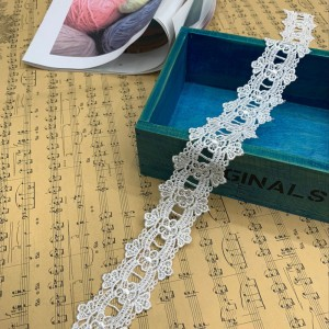 White Lace Trim for Dress and Blouse Embellishments and Patterns (1.75 inches x 35 inches) [300 Rolls/Lot]