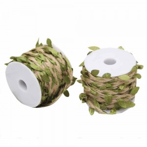 Decorative Jute Green Vine Ribbon Rolls for Party Favors and Decorations (1 inch x 11 Yards) [90 Rolls/Lot]