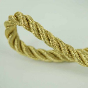 Shimmery Gold Cord for Decorations and DIY Tassle Making (0.075 inches x 3 feet) [400 Cords/Lot]