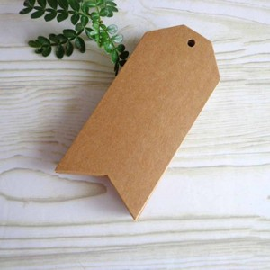 Ribbon Shape Kraft Tags for Rustic Theme Party Favors (1.75 inches x 3.5 inches) [2130 Tags/Lot]