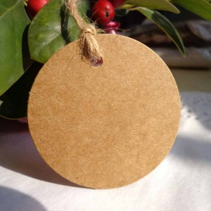 Round Kraft Tag with Hole Punch for Strings or Ribbons (1.75 inches) [2130 Tags/Lot]