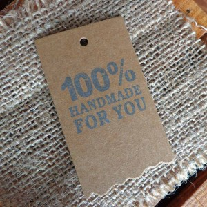 """100% Made for You"" Printed Rustic Brown Kraft Tag for DIY Crafts (1.5 inches x 2.75 inches) [2130 Tags/Lot]"